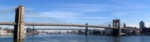 The Brooklyn Bridge.  Credit: Wikipedia
